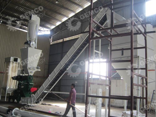 efb pellet mill and belt conveyor