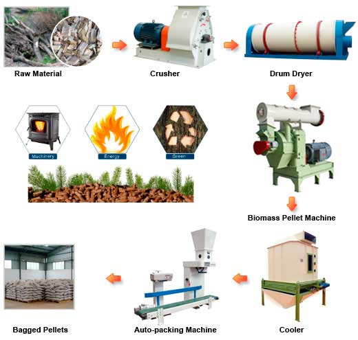 biomass pellets making process