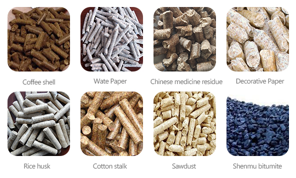 Analysis of the combustion characteristics of 8 kinds of biomass pellets