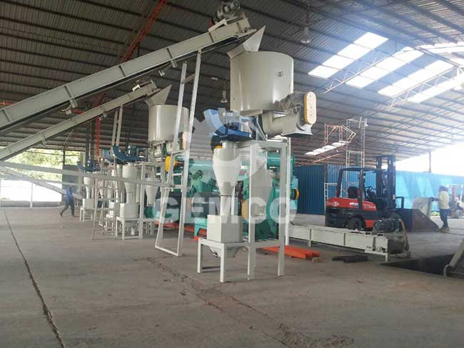 cooling system for pellet mill