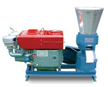 diesel engine pellet mill