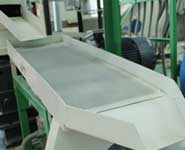 vibrating sieve of mobile pellet line