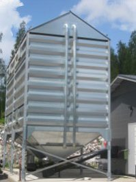 How to build a wood pellet silo at home?