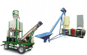 portable small wood pelleting line