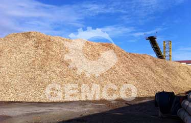 raw material for making wood pellets