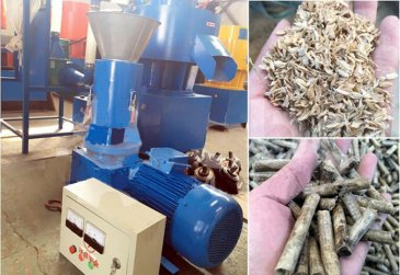 Small rice husk pellet machine exported to France