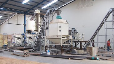 10t/h sawdust pellet plant in Indonesia