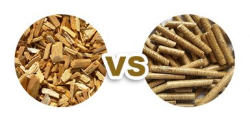 Why should you use wood pellets rather than wood chips?