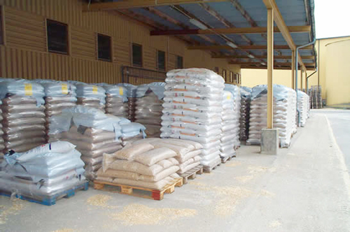 wood pellet package and storage