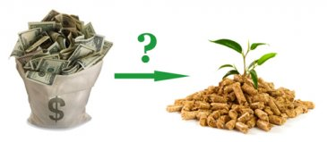How much does it cost to produce 1 ton of wood pellets?