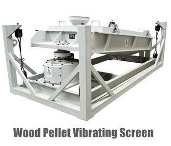 wood pellet screen