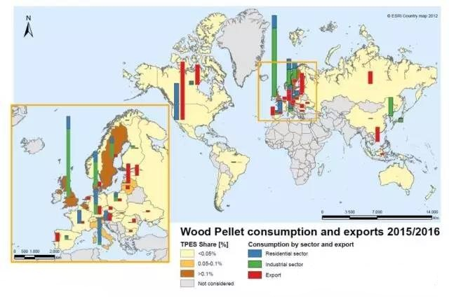 world wood pellets consumption