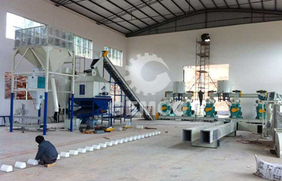 8ton/h wood pellet line in china